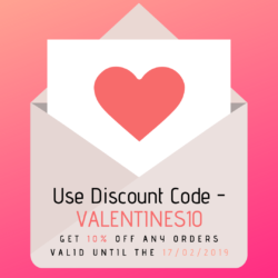 Feel the love, use our Valentines special discount code!